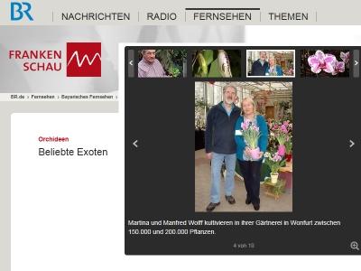 Martina und Manfred Wolff - BR Frankenschau